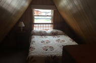 cabin #1 loft full size bed