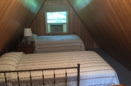 cabin #1 loft twin beds